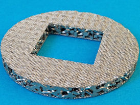 cutaway example of sintered mesh filter disc