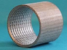 Sintered cylinder (several mesh layers)