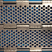 Perforated plate belt