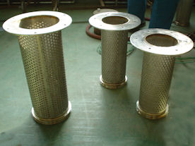 Filter baskets in production